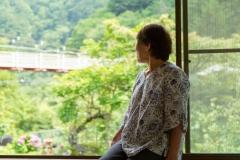 宿から大滝吊り橋が見えるのは梅ヶ島で当宿だけ!贅沢な景色を独り占めしてください。