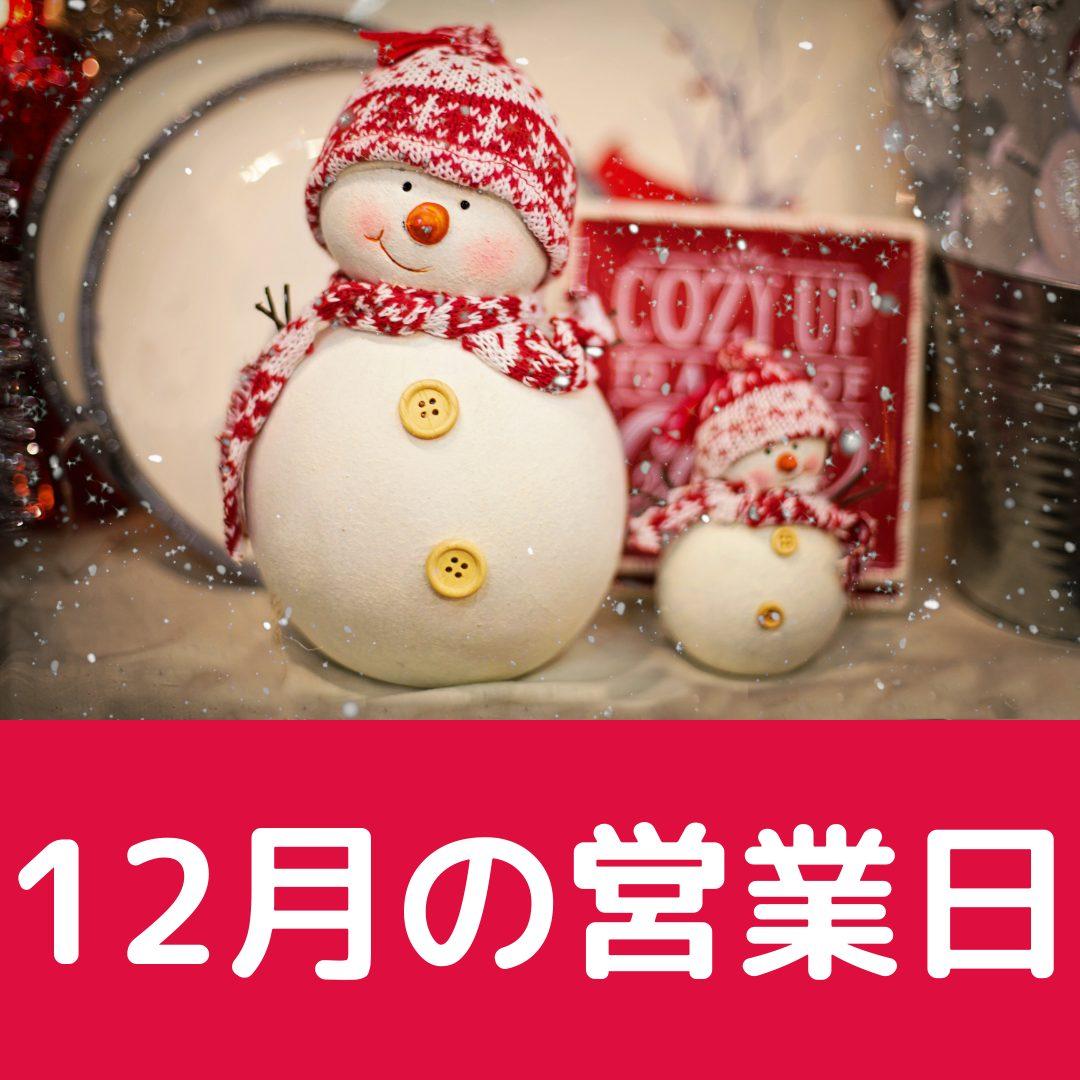 梅ヶ島温泉 湯の華 12月の営業日
